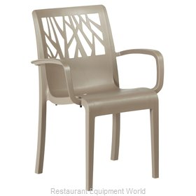 Grosfillex US200181 Chair, Armchair, Stacking, Outdoor