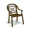 Grosfillex US214037 Chair, Armchair, Stacking, Outdoor