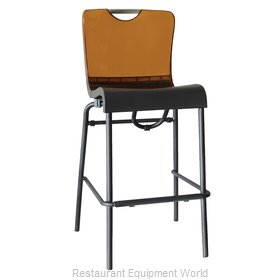Grosfillex US229447 Bar Stool, Stacking, Indoor