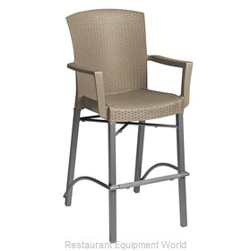 Grosfillex US254181 Bar Stool, Outdoor