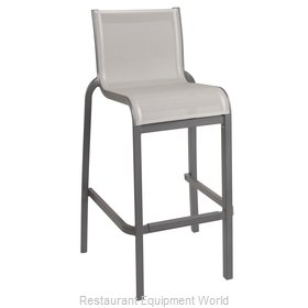 Grosfillex US300288 Bar Stool, Stacking, Outdoor