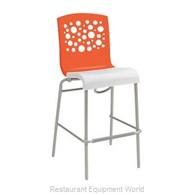 Grosfillex US310019 Bar Stool, Stacking, Indoor