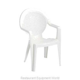 Grosfillex US421004 Chair, Armchair, Stacking, Outdoor
