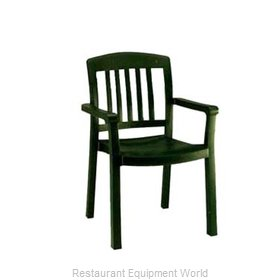 Grosfillex US442078 Chair, Armchair, Stacking, Outdoor