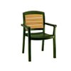 Grosfillex US453078 Chair, Armchair, Stacking, Outdoor