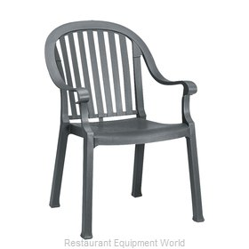 Grosfillex US496502 Chair, Armchair, Stacking, Outdoor