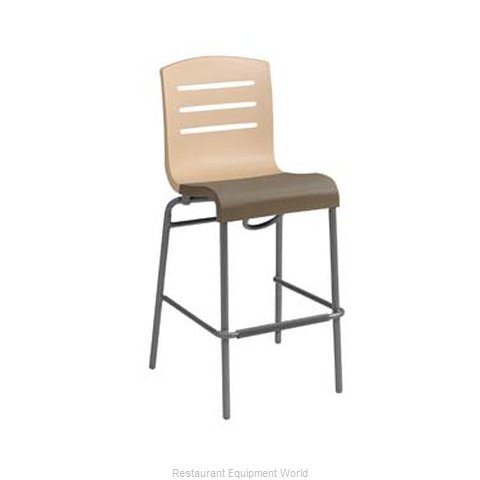 Grosfillex US514413 Bar Stool, Stacking, Indoor