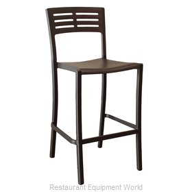 Grosfillex US638017 Bar Stool, Stacking, Outdoor