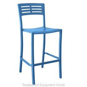 Grosfillex US638680 Bar Stool, Stacking, Outdoor