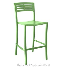 Grosfillex US638721 Bar Stool, Stacking, Outdoor