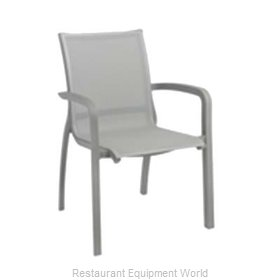 Grosfillex US644289 Chair, Armchair, Stacking, Outdoor