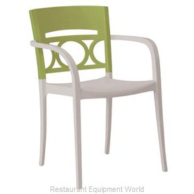 Grosfillex US651282 Chair, Armchair, Stacking, Outdoor