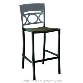 Grosfillex US654579 Bar Stool, Stacking, Outdoor