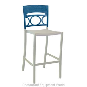 Grosfillex US654680 Bar Stool, Stacking, Outdoor