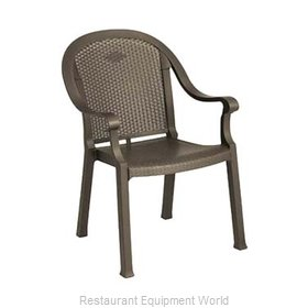 Grosfillex US720037 Chair, Armchair, Stacking, Outdoor