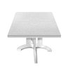 Grosfillex US810004 32'' Square Folding Table With Umbrella Hole