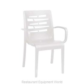 Grosfillex US811104 Chair, Armchair, Stacking, Outdoor
