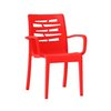 Grosfillex US811414 Chair, Armchair, Stacking, Outdoor