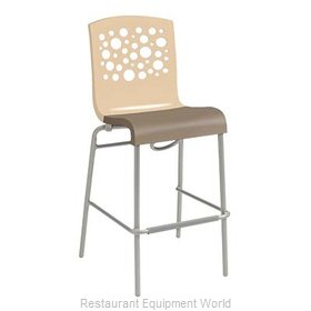 Grosfillex US836413 Bar Stool, Stacking, Indoor