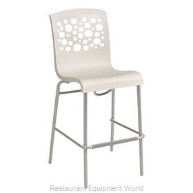 Grosfillex US838004 Bar Stool, Stacking, Indoor