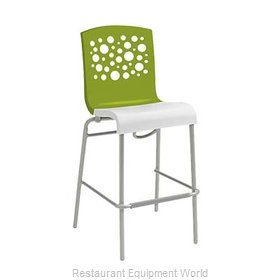 Grosfillex US838152 Bar Stool, Stacking, Indoor