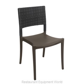 Grosfillex US985002 Chair, Side, Stacking, Outdoor