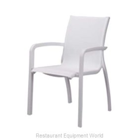 Grosfillex XA645096 Chair, Armchair, Stacking, Outdoor