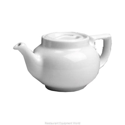 Hall China 10-WH China Coffee Pot Teapot (Magnified)