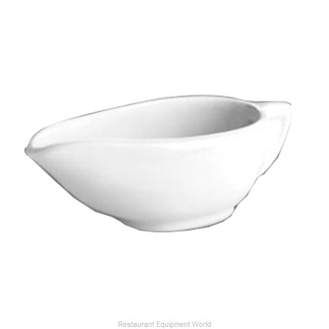 Hall China 144-WH Gravy Sauce Boat, China (Magnified)