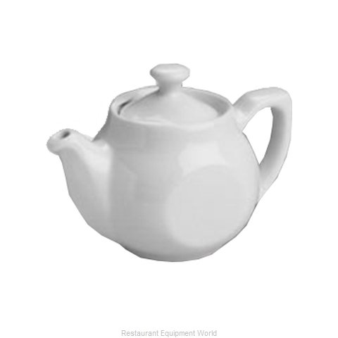 Hall China 1640-WH China Coffee Pot Teapot (Magnified)