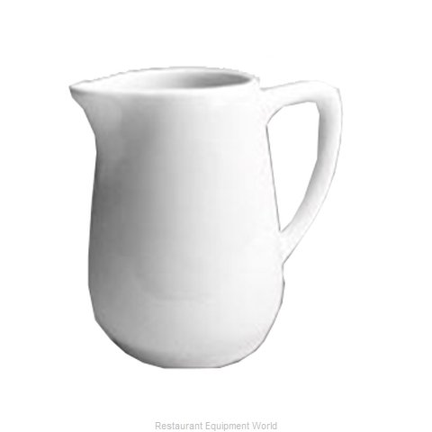 Hall China 175-WH Creamer / Pitcher, China (Magnified)