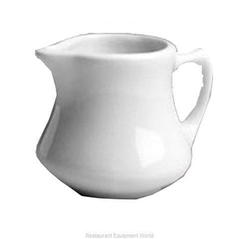Hall China 195-WH Creamer / Pitcher, China (Magnified)