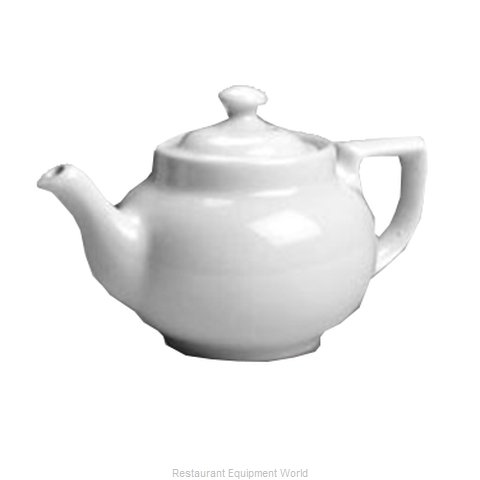 Hall China 22-WH Coffee Pot/Teapot, China (Magnified)