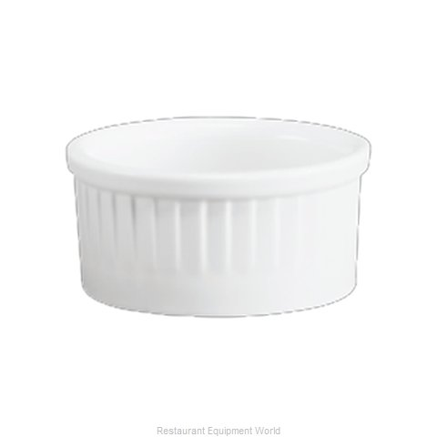 Hall China 4549-WH Souffle Bowl / Dish, China