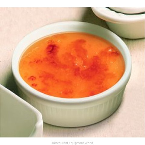 Hall China 4551-WH Creme Brulee Dish, China (Magnified)