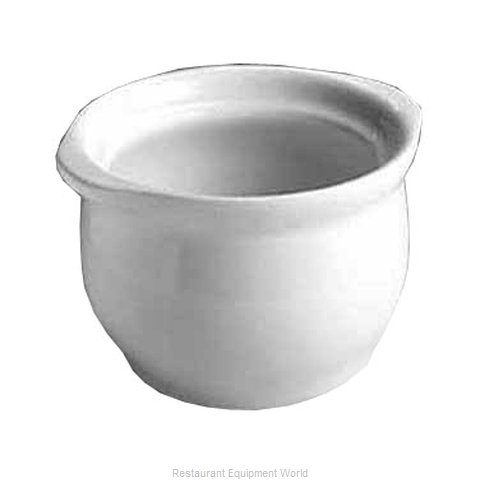 Hall China 476-B-WH Soup Bowl Crock, Onion (Magnified)