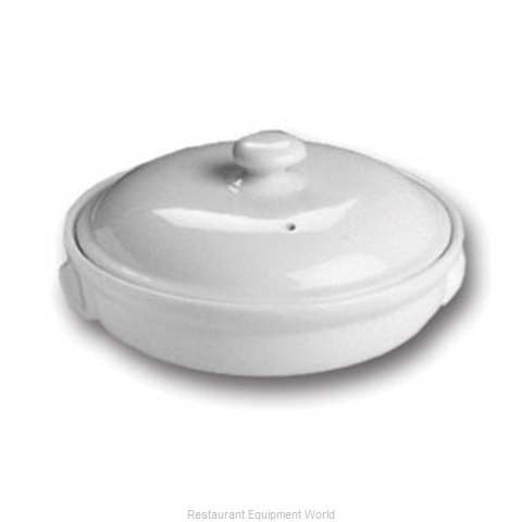 Hall China 62-C-WH China Lid (Magnified)