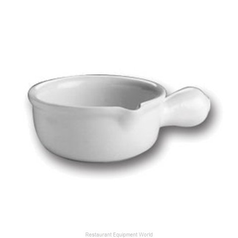Hall China 645-B-BW China Onion Soup Crock
