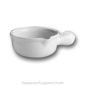 Hall China 645-B-WH Soup Bowl Crock, Onion