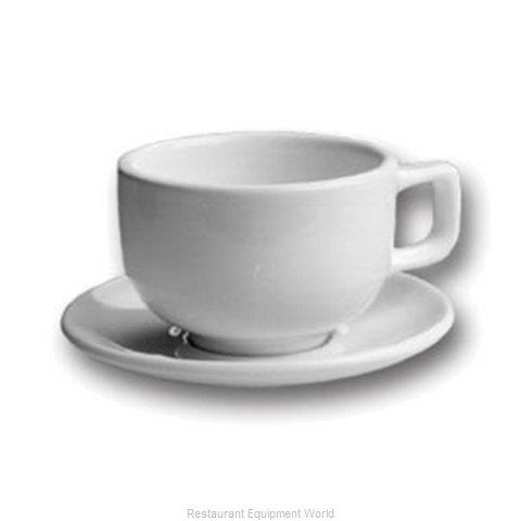 Hall China 951-WH China Cappuccino Cup