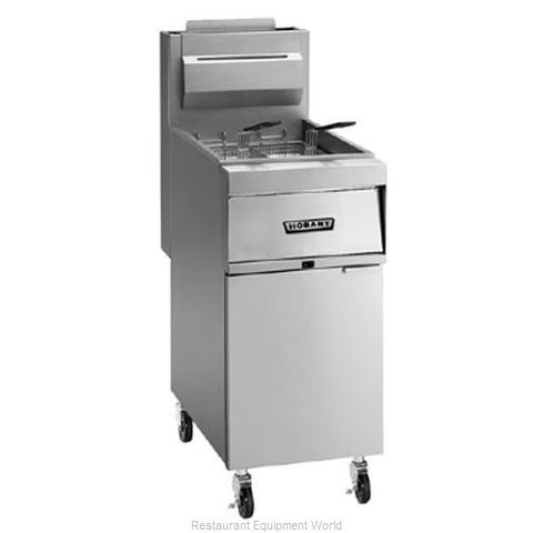 Hobart 1HG35M-1 Fryer Floor Model Gas Full Pot