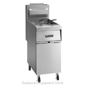 Hobart 1HG35M-2 Fryer Floor Model Gas Full Pot