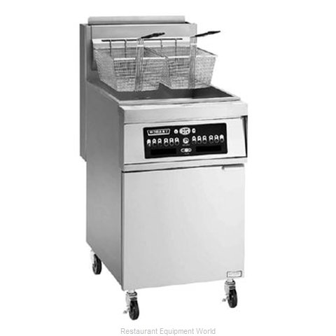 Hobart 1HG85CF-2-DBL Fryer Floor Model Gas Full Pot