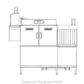 Hobart CLCS66ER+BUILDUP Dishwasher Conveyor Type