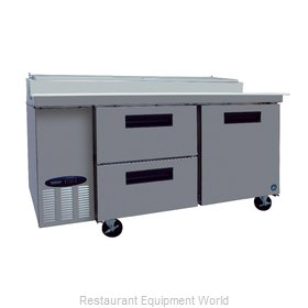 Hoshizaki CPT67-D2 Refrigerated Counter, Pizza Prep Table