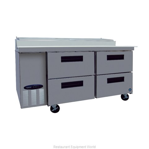 Hoshizaki CPT67-D4 Refrigerated Counter, Pizza Prep Table