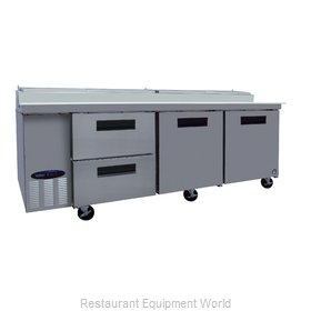 Hoshizaki CPT93-D2 Refrigerated Counter, Pizza Prep Table