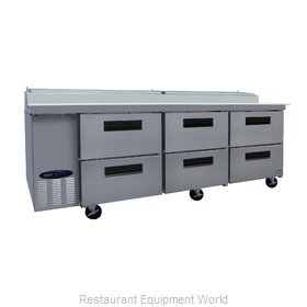 Hoshizaki CPT93-D6 Refrigerated Counter, Pizza Prep Table