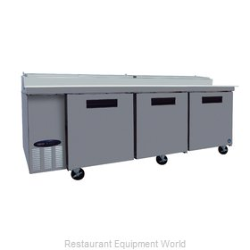 Hoshizaki CPT93 Refrigerated Counter, Pizza Prep Table