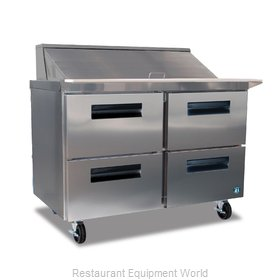 Hoshizaki CRMR48-18MD4 Refrigerated Counter, Mega Top Sandwich / Salad Unit